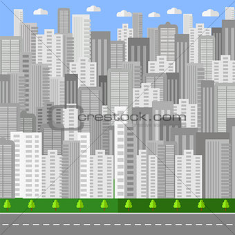 City Background. Urban Landscape