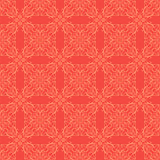 Red Ornamental Seamless Line Pattern