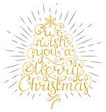 christmas wish with rays