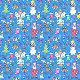 colorful seamless christmas pattern