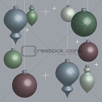 Card Christmas balls soft in 3D