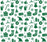 Christmas seamless pattern.  background,   texture, wallpaper, fabric. Vector illustration