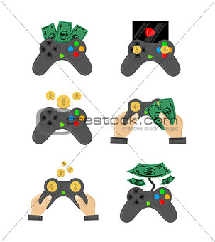 Great designed set of gamepads