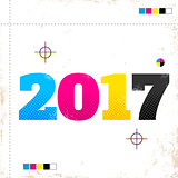 2017 in CMYK style
