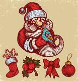 Christmas icons and Santa Clause