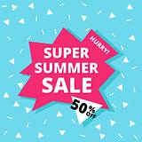 Super summer sale banner