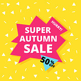 Super autumn sale banner