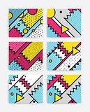 Colorful Pop art set