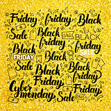 Black Friday Gold Lettering