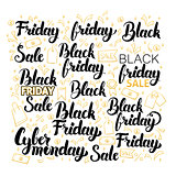 Black Friday Lettering Design Set