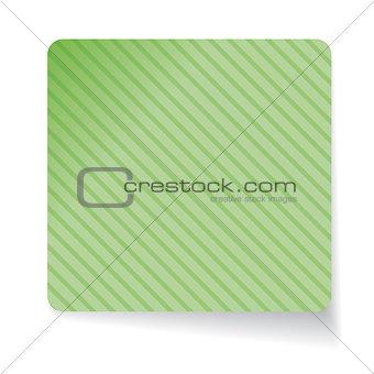 Green paper sticker vector