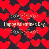 Red Hearts over Gray Background