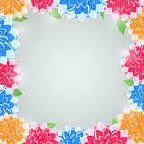 Vector Invitation Background with Flowers
