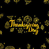 Thanksgiving Day Gold and Black Design