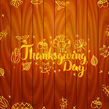 Thanksgiving Day Wooden Board