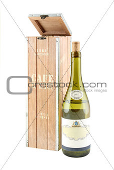Box for storing wine. Design