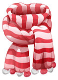 Christmas Santas striped scarf