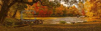 Autumn scene on the lake.