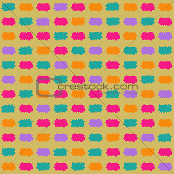 Bright Paint Stroke Seamless Pattern
