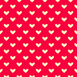 Simple Polka Dot Heart Seamless Pattern