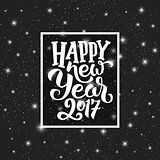 Happy New Year 2017 vector greeting card design