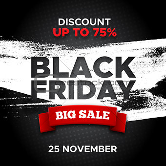 Black Friday promo banner vector background