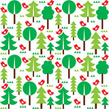 Finnish inspired seamless folk art pattern - Scandinavian, Nordic style