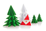 Christmas composition of origami
