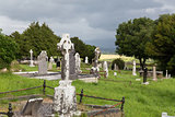 old celtic cemetery graveyard in ireland