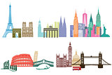 Landmark Monuments llustration