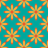 Flower seamless pattern bright colors