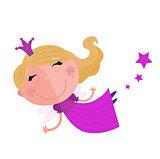 Little cute flying Girl artwork : Pink