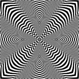 Abstract op art pattern.
