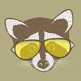 Raccoon vector illustration