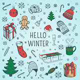 Welcome winter background.