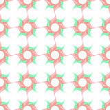 Stylized Twirled Flower Trellis  Background