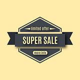 Set sale labels, vector illustration.