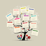 Calendar tree 2017 for your design