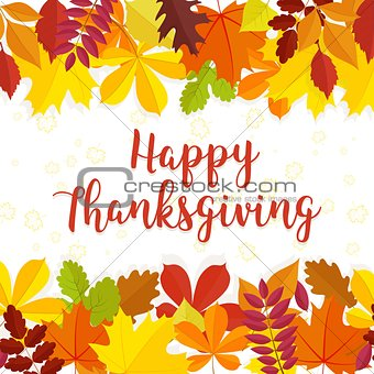 Autumn background. Traditional Thanksgiving day background . Vector illustration