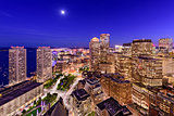Boston Financial District Cityscape