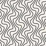 Vector Seamless Hand Drawn Vertical Lines Pattern