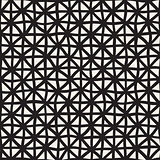 Wavy Hand Drawn Lines Triangles Grid. Vector Seamless Black and White Pattern.