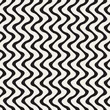 Wavy Lines Pattern. Vector Seamless Black and White .
