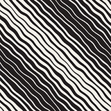 Vector Seamless Hand Drawn Diagonal Lines Pattern