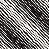 Vector Seamless Hand Drawn Diagonal Lines Pattern