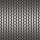 Hand Drawn Horizontal Wavy ZigZag Lines. Vector Seamless Black and White Pattern.