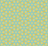 Vector Seamless Yellow and Teal Hexagonal Geometric Simple Floral Petal Pattern
