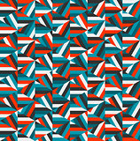 Vector Blue Red Triangle Random Stripes Geometric Pattern