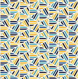 Vector Seamless Blue yellow White Rounded  Triangle Lines Lace Grid Pattern