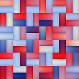 Vector Seamless Gradient Mesh Square Blocks Pavement in Shades of Blue and Red